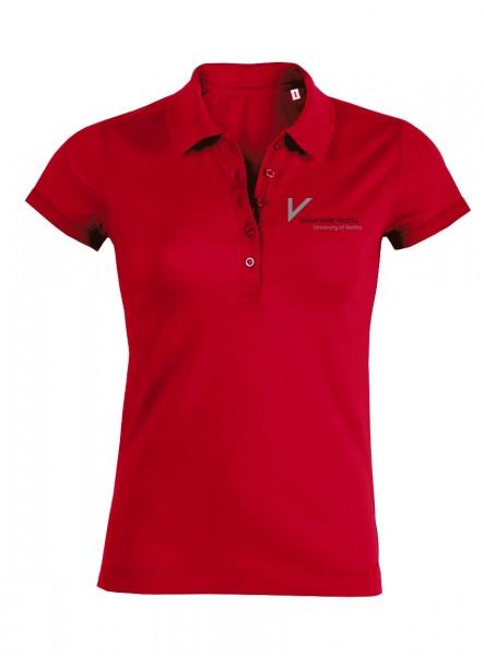 Damen Poloshirt rot